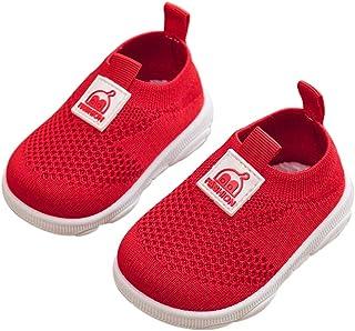 DEBAIJIA Zapatos para Niños 3-18M Bebé Caminan Zapatillas Deporte sin Cordones Transpirables Malla Ligera Antideslizante T...