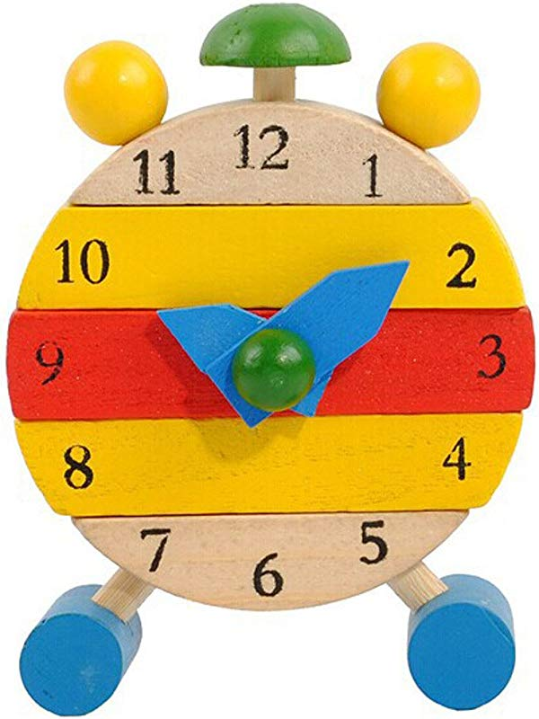 Jonerytime Baby Toy Hand Made Wooden Clock Toys For Kids Learn Time Clock Educational Toys