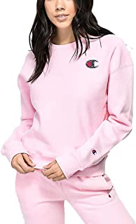 Champion Life Women's Reverse Weave Sublimated Big C Logo Pullover Crewneck