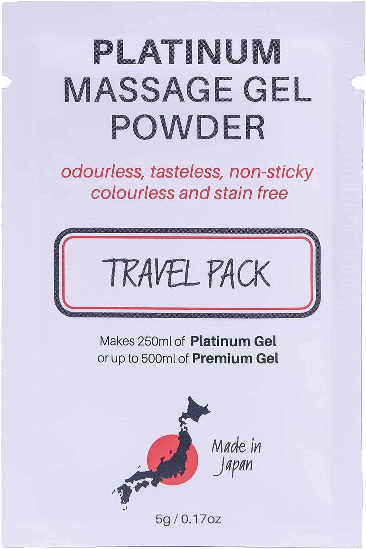Premium Nuru OFFicial mail order Massage Gel Powder depot Sachet Makes 5g 500ml Travel