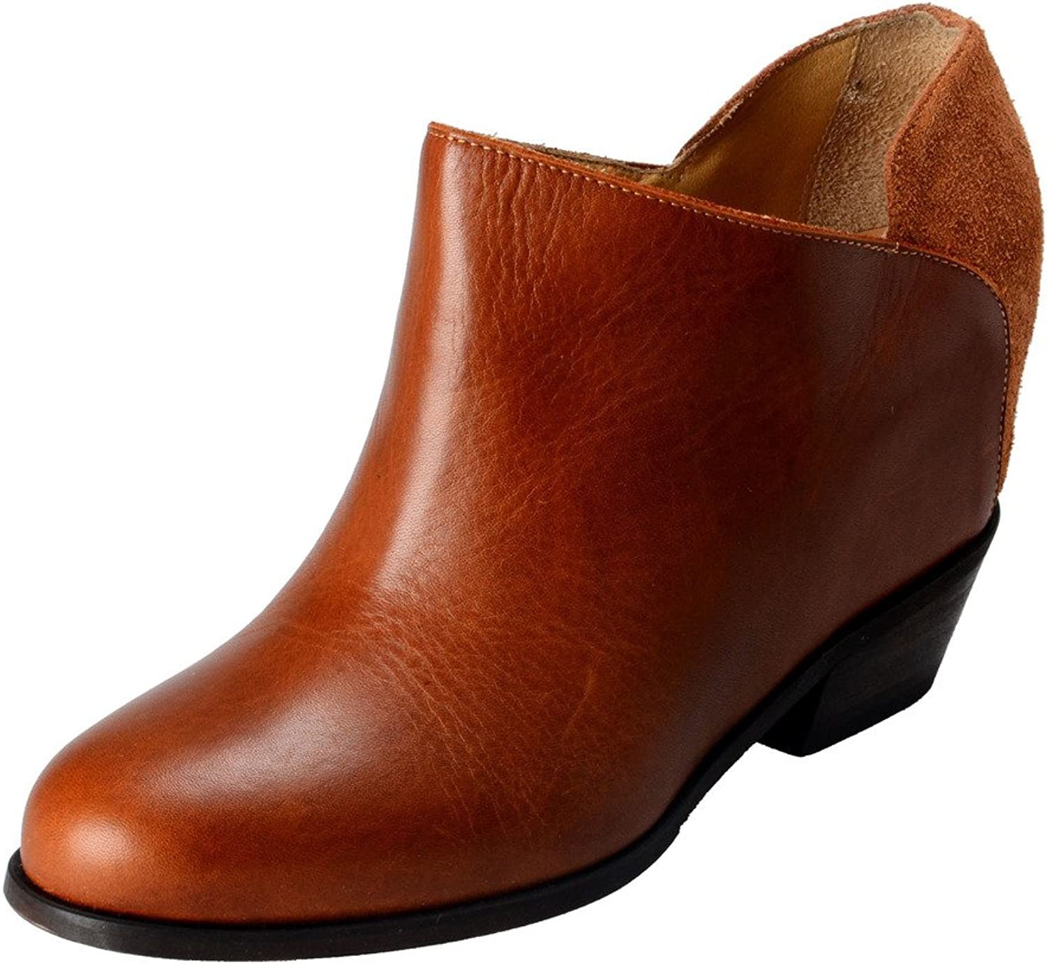 MAISON MARGIELA MM6 Women's Suede Leather Hidden Wedge Ankle Boots shoes
