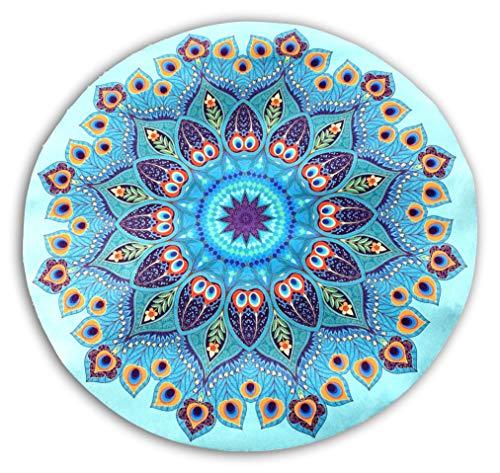 Tapis de méditation Rond Mandala Bleu