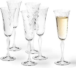 10 x 9,5 cm Ichendorf Milano Tut/ù Colore Glas Kelch Transparent//Bernstein modernes italienisches Design Borosilikatglas