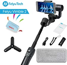 FeiyuTech Vimble 2 3-Axis Handheld Gimbal Stabilizer Travel Selfie Stick for iPhone Xs X 8 7 Plus,Samsung S9+ S9 S8,Huawei,Xiaomi,Tripod Stabilizer Rod,Portrait Mode,Panorama Shooting,183mm Length