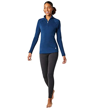 Smartwool Merino 250 Base Layer 1/4 Zip (Alpine Blue Heather) Women