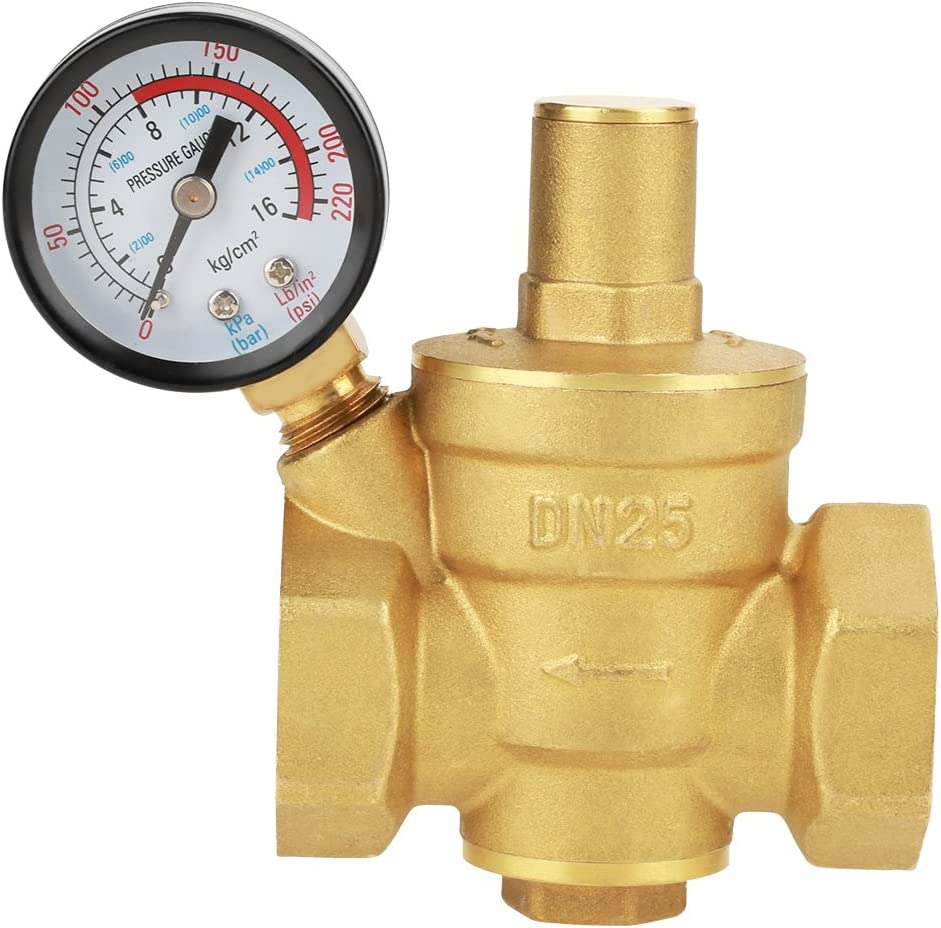 DN25 Memphis Mall service Brass Relief Valve Adjustable Reducing Pressure Water Regul