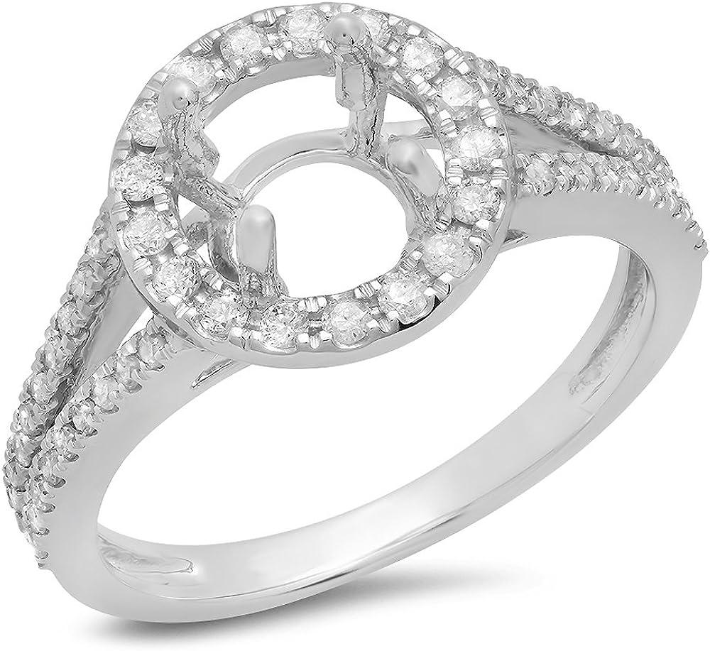 Dazzlingrock Collection 0.40 Carat ctw Columbus Mall Diamond Gold White 14K 2021