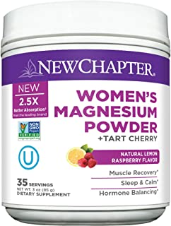 Magnesium Powder,New Chapter Women's Magnesium Powder,2.5X Absorption,35 Servings,Chelated+ Natural Melatonin + Tart Cherr...