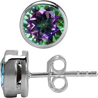 2.06ct. Mystic Fire Topaz 925 Sterling Silver Stud Earrings