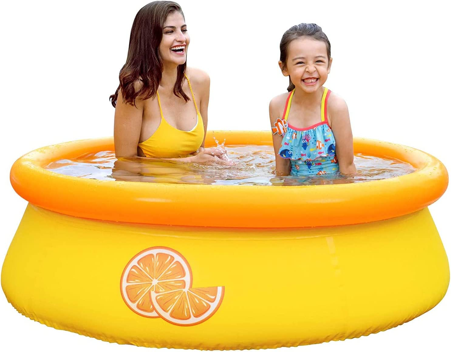 YEHEI Orange Los Angeles Mall Inflatable Swimming Family fo New Free Shipping Pool