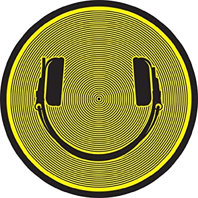 DMC Turntable Slipmats (1 Pair) - Black/Yellow