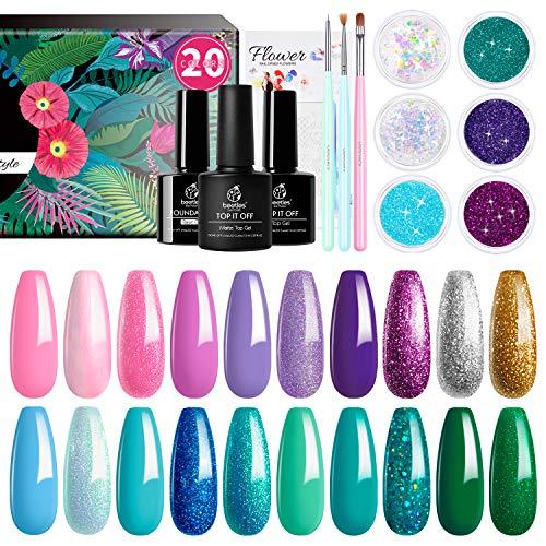 Mermaid gel nails, Mermaid gel polish Mermaid gel nail polish, Mermaid glitter nail polish
