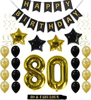 Best 80 birthday decoration Reviews