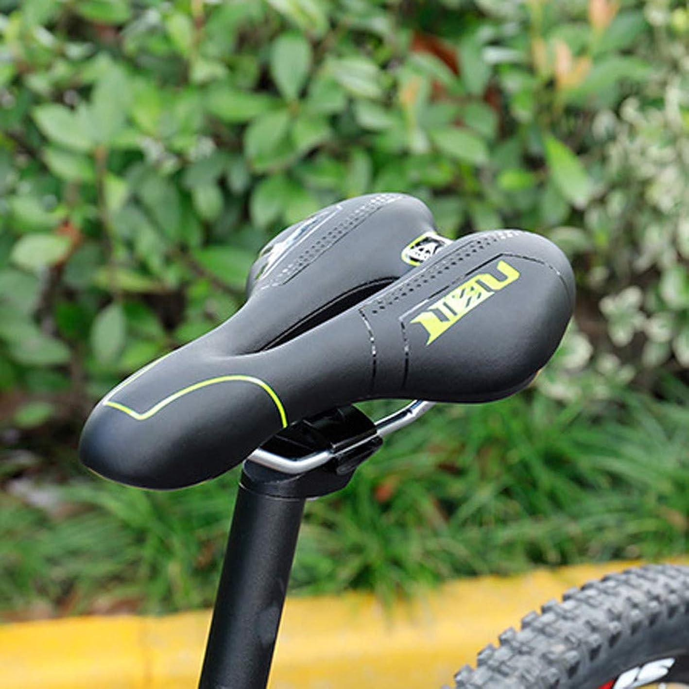 アナロジー通信する日自転車用クッション 防水マウンテンロードバイクサドルソフト快適なシート自転車アクセサリー (イェロー)