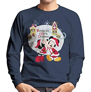 Disney Mickey Mouse Village Merry Christmas Men's Sweatshirt