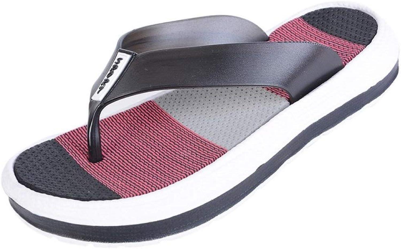 Women Summer Casual Slippers Durable Flip Flops Massage Female Lightweight Striped Beach shoes