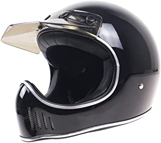 TEQIN Motorcycle Off-Road Racing Helmet Full Face Helmet Outdoor Racing Helmet Black XXL