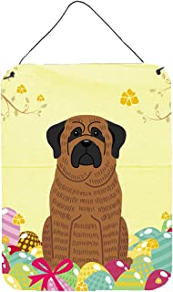 Easter Eggs Mastiff Brindle Wall or Door Hanging Prints