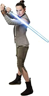 FATHEAD Rey-Star Wars: The Last Jedi-Life-Size Officially Licensed Removable Wall Decal, Multicolor