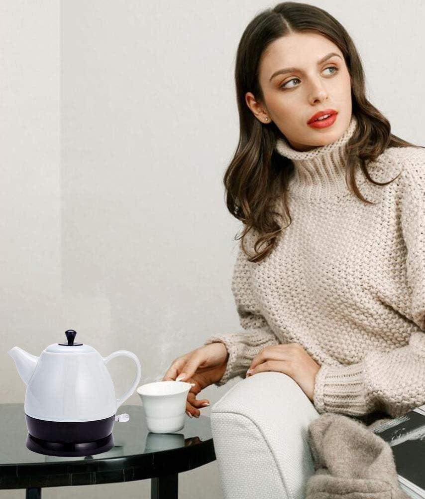 JY Céramique Bouilloire Électrique, Sans Fil Eau Teapot 1Litre, Sans Fil Mise En Veille Automatique Rapide Ébullition Rapide accessoires de cuisine/Gray. Gray.