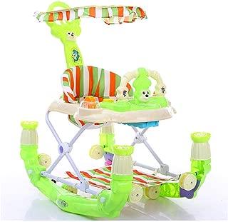 ブレーキ折りたたみ及び6〜18ヶ月の赤ちゃんのための照明や音楽ウォーカーと高さ調節可能でベビーウォーカー