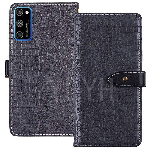 YLYT Flip Case Etui Gray Leder Tasche Schutz Hülle Für XGODY Note 10 7.2 inch Handy Horizontale Standfunktion Magnetverschluss Strapazierfähiger Cover