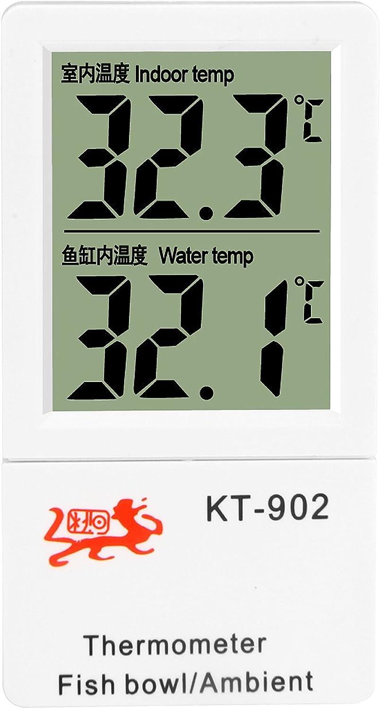 Amagle Indoor Digital Thermometer Aquarium Submersible Fish Tank Terrarium LCD Digital Thermometer