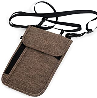 FairOnly Portable Neck Hanging Multifunction Credit Card Package Holder Travel Passport Cover Wallet ID Storage Clutch Money Bag