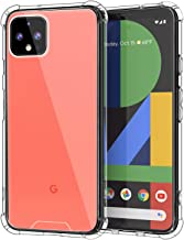 MoKo Compatible with Google Pixel 4 XL Case, Crystal Clear Reinforced Corners TPU Bumper + Anti-Yellow Anti-Scratch Transparent Hard Panel Cover for Google Pixel 4XL 6.3 inch 2019 - CrystalClear