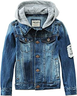 SITENG Boys Kids Denim Fall Ripped Jean Jacket Coat Outwear with Hole 100% Cotton