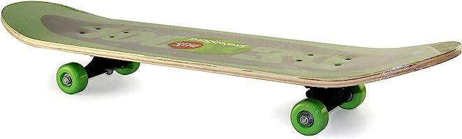 لوح تزلج خشبي بـ4 عجلات، اخضر واسود، مقاس 79×12.50×20.5 سم