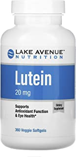 Lake Avenue Nutrition Lutein, 20 mg, 360 Veggie Softgels