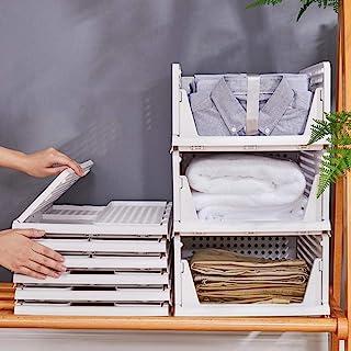 Takarafune 衣装ケース 整理箱 衣類 収納ボックス キッチン収納ケース 整理ケース 折り畳み 省スペース 超安定 通気性良く 大容量 小物 衣類 収納 道具箱 押入れ収納 収納ケース 整理ボックス 3点セット