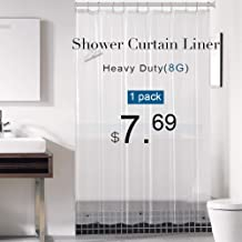 downluxe Shower Curtain Liner Clear - PEVA 8G Waterproof for Bathroom, Rust Proof Grommets, 72x72 Inches, 1PC