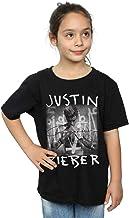 Justin Bieber niñas Purpose Album Cover Camiseta 12-13 Years Negro