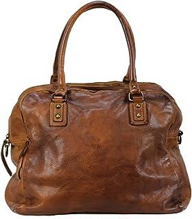 BZNA Bag Lue cognac brown Italy Designer Messenger Damen Handtasche Schultertasche Tasche Leder Shopper Neu