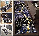 Custom Size Runner Rug for Hallway, 31.5IN X 2FT,Purple/Golden Rugs for Entry Way Floor, Multi Color Design Runner Carpet (Non-Slip)