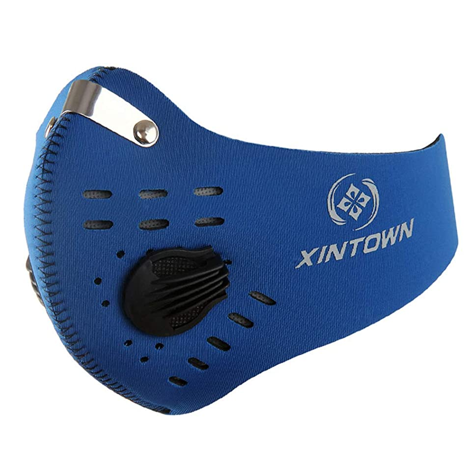 SuBoZhuLiuJ Activated Carbon Dust-Proof Anti-Fog Soft Warm Cycling Sports Face Face Mouth Mask - Blue