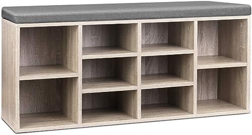 Artiss Bench Wooden Shoe Rack Storage