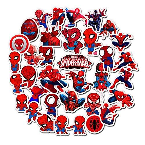 YZFCL Hero Superman Sticker Spider-Man Doodle Waterproof Skateboard Sticker Personalized Suitcase Doodle 35pcs
