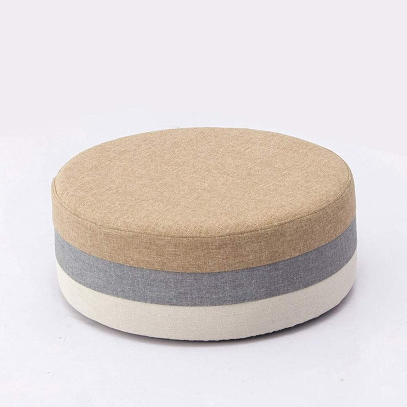 WH Simple Low Stool Fabric Fashion Round Stool Coffee Table Stool Color Children's Stool Creative Leisure Sitting on The Kindergarten (Style : D)