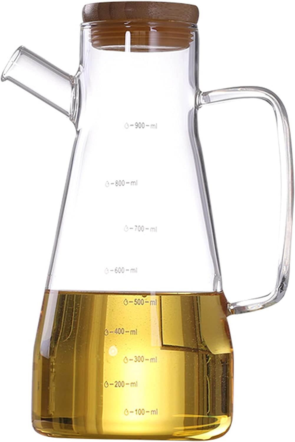 Borosilicate Transparent Glass Olive Oil Tampa Mall Soy Popular products Bottle Pot Vin
