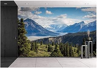 wall26 Mountain Range View - Removable Wall Mural | Self-Adhesive Large Wallpaper - 100x144