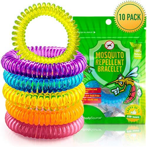 Anti Mückenschutz Armbänder | Natürlicher und DEET freier Insektenschutz – innen-und Außeneinsatz-wasserdicht – dauert bis zu 250 Stunden | Kind und Erwachsene freundlich (10 Stück)