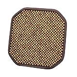 JNMDLAKO Cojines de Asiento Confort - Almohadilla portátil Transpirable Antideslizante para masajes - Adecuado para Asiento de automóvil, Uso doméstico y sillas de Oficina (1PCS), Beige