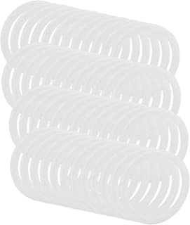 Runtodo Reusable LeakProof Silicone Seal Rings for Plastic Mason Jar Lids (Wide Mouth, 48-Pack)