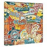 アートデリ ポスター パネル ハワイアン ステッカー 30cm × 30cm 日本製 軽量 ファブリック popa-1803-010