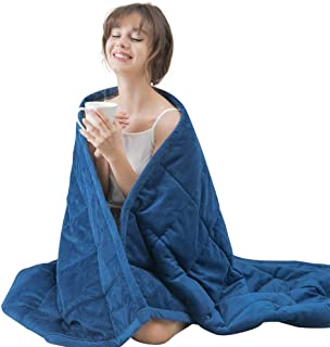 Daverose Kids/Adults Minky Dot Weighted Blanket | Upgraded One Piece Design Heavy Blanket | Reduce Stress Anxiety | Great ...