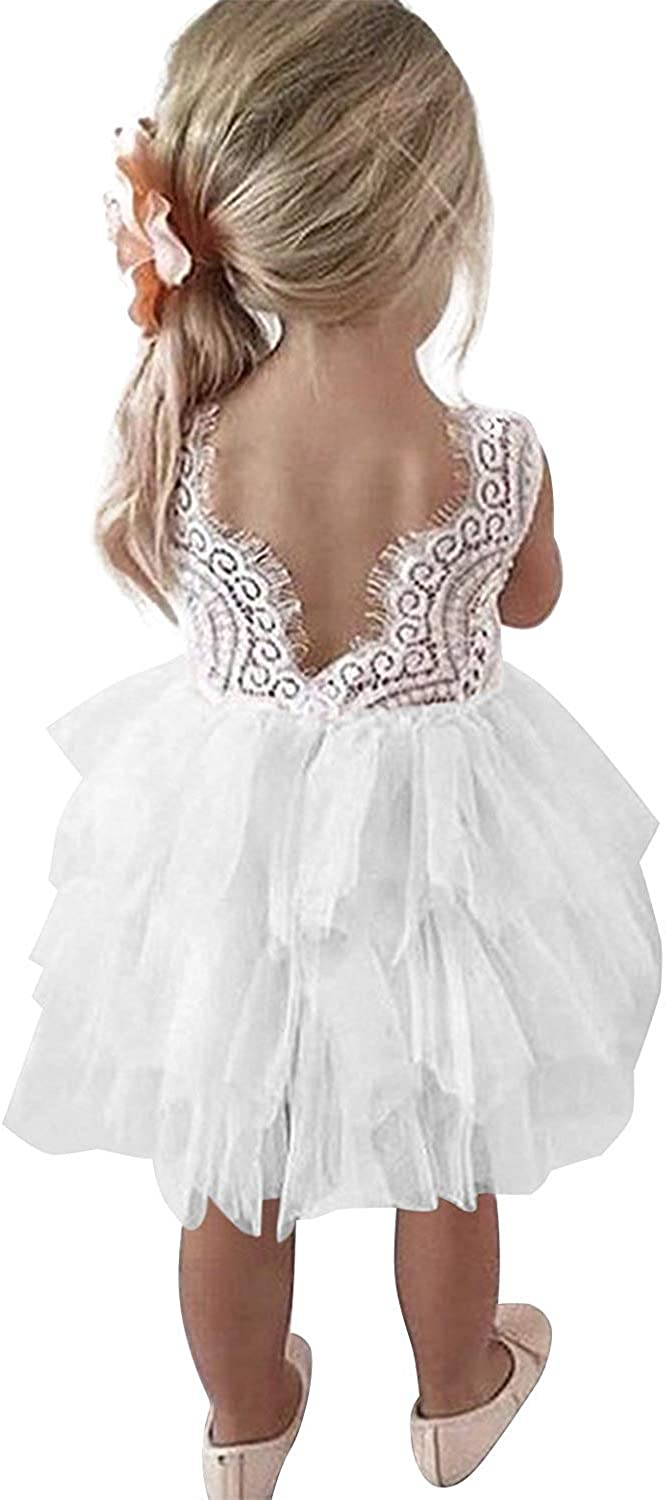 Be super welcome TTYAOVO Max 65% OFF Little Girls Lace Embroidered Holiday Dress Casual