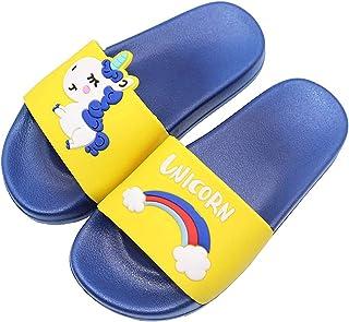 HommyFine Enfants Chaussons Licorne Pantoufles de Bain Plates Chaussures de Piscine et de Plage Antidérapant pour garçons ...